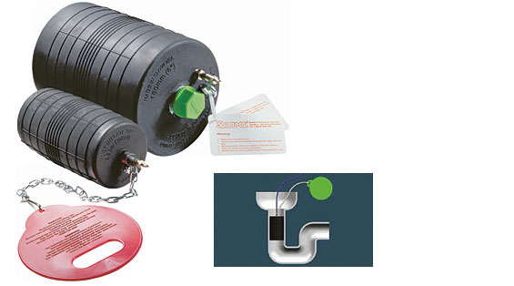Inflatable sealing pipe plug source one environmental